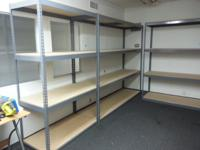 We have brand-new and used shelving varying in sizes.