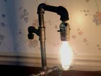 This lamp is made of 1/2 inch black nickle iron pipe.