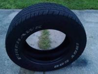 I have an Indy 500 Firehawk 235 60 R15 Tire for sale. I