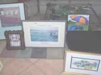 I have a good selection of framed art, prices ranging