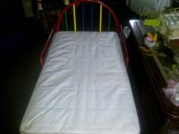 All metal toddler bed with mattress $50.00  Child Craft