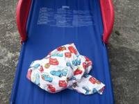 Brand new never used Cars Infant bed. Comes with a pair