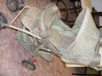 infant car seat and matching stroller good condition