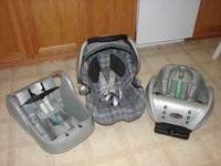 Infant carseat for sale with 2 bases. In very good