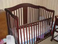 Beautiful Crib is lightly used. The crib is a 3 way