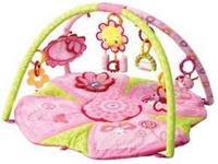 Two girls' infant play mats - both made by Bright