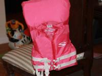 Infant life jacket for weight up to 30 pounds. located