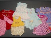 Infant clothes, some new, some lightly used, in sizes