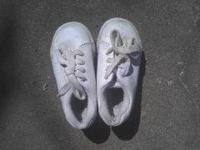 THREE PAIR OF INFANT SHOES THREE DOLLARS A PAIR