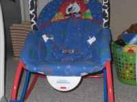 Blue Cow Infant to Toddler Rocker. Comes with bar to