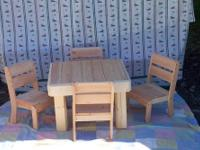 "Infant Table is 20"" X 28"" X 15"" Tall / Chairs match"