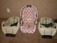 graco infant car seat w/2 car base in very good