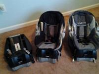 We have 2 baby trend infant car seats with separate 3rd