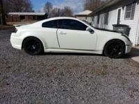 2004 Infiniti G35 coupe 6mt, pearl white with black