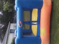 This inflatable bounce house is the perfect size for