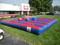 Blow-Up Inflatable Jousting Platform, 2-Blower System,