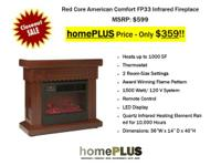 Red Core American Comfort Infrared Fireplace   MSRP: