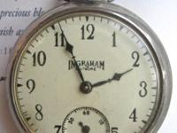 This Ingraham Biltmore antique watch showcases an inset