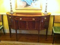 Beautiful inlaid mahogany sideboard by Hickory White in