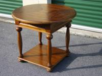 This beautiful round table will make a great addition
