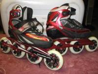 Real Nice Inline Skates; 100 mm wheels with Abec 7