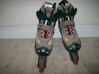 Inline Skates Youth SZ 1-4 Gray Adjustable - $25 -