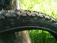 Selling my studded mountain bike tires. Great for