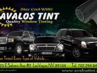 WINDOW TINT FOR VEHICLES.  PROTECTS YOU FROM HARMFUL UV
