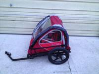 bike trailer is like new used maybe 2 or 3 times. can