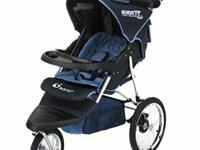 INSTEP SAFARI II JOGGING STROLLER NAVY AND BLACK AND IN