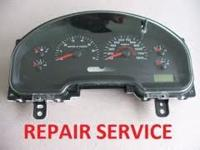 We repair instrument clusters and speedometers for many