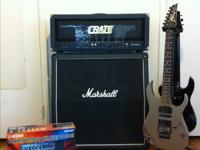 Crate blue voodoo 120 watt head. Marshall 4x12 angled