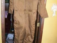 new never worn pair of size 2xl coveralls, canvas