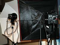 2 Interfit EX150 mono light strobes w/ stands  comes