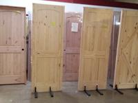 We have 6-panel pine, knotty pine arch top, and knotty