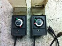 2 Used Intermatic Heavy Duty Outdoor/Indoor Timer Good