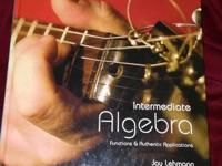 Intermediate Algebra Jay Lehmann customized edition for