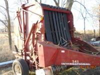 Have for sale International 241 hay baler. Used last