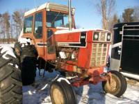 INTERNATIONAL 966 TRACTOR, DIESEL ENGINE, TURBO, BLACK