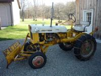 Early 70's International Cub tractor for sale. Comes