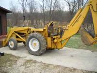 1970'S INTERNATIONAL HARVESTER DIESEL 3444 BACKHOE.
