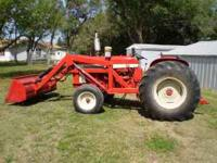 1963 International Tractor with loader, 3 point, and
