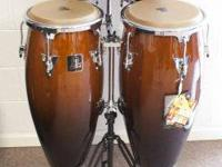 This is a brand name new bongo conga set by Toca /
