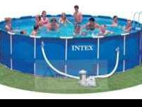 Extra strong and sturdy Intex® Round Metal Frame Pools
