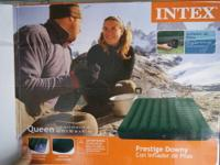 Intex Queen Airbed + pump from Walmart ($35 new). Great