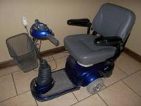 Selling a very nice blue Invacare power scooter. New