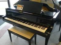 Pre-Owned Yamaha GH1 ebony polish baby grand piano,