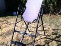 Inversion table, designed to help with back problems,