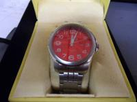 Invicta II 6860 Men's Red Dial Stainless Steel Watch