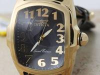 This is a nice Invicta Lupah gold tone stainless steel